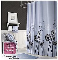 Шторка для ванной и душа с кольцами для карниза