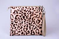 Эффектная сумка клатч с леопардовым принтом