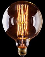 Ретро-лампа  VOLTEGA G125 (винтажный шар) 60W E27 (янтарь нити)