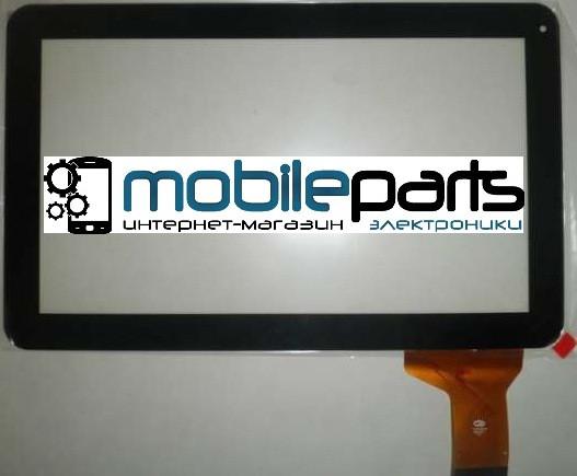 """Оригинальный Сенсор (Тачскрин) для планшета 10.1"""" Assistant AP-110 (256*159 мм, 50pin) (Черный-Самоклейка)"""