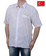 Легкая летняя мужская рубашка короткий рукав.Большого размера.