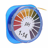 Лакмус бумага для проверки pH(1-14pH) на 5м бобине
