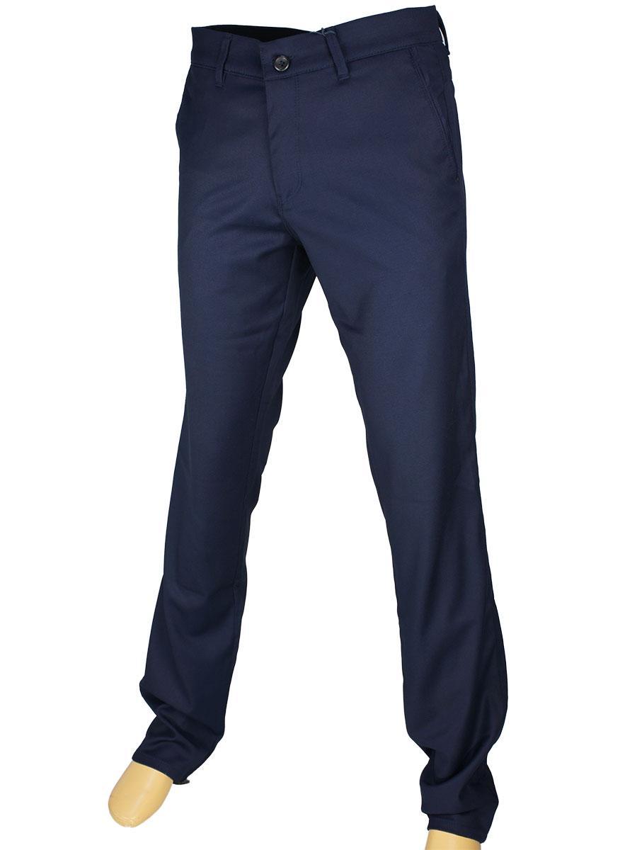 Брючные мужские джинсы NAX 180-5141 темно-синего цвета