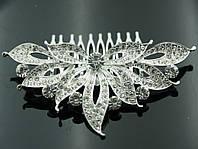 Гребешки для волос в стразах- стильный свадебный гребень 427