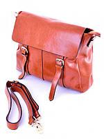 Женская кожаная сумка-планшет коричневая 12231