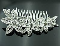 Женские гребешки для волос в стразах- стильный свадебный гребень 428