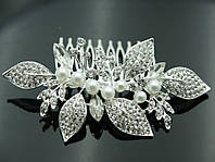 Элитные гребешки для волос в стразах- стильный свадебный гребень 429