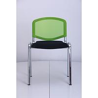 Стул Призма Веб хром сиденье Сетка черная, спинка Сетка салатовая (AMF-ТМ)