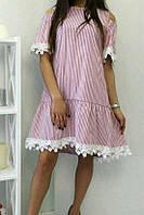 Платье в полоску коттоновое женское , фото 1
