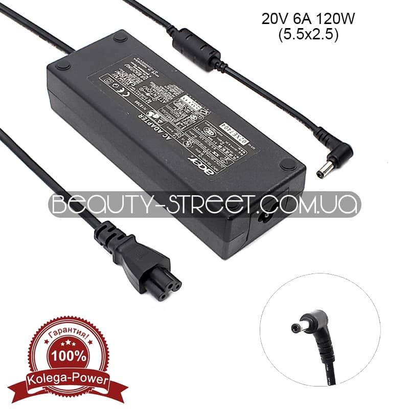 Блок питания для ноутбука Acer 20V 6A 120W 5.5x2.5 (A) оптом от 3шт