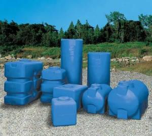 Накопительный бак для воды и других жидкостей ELBI CHO 1000 литров, круглый горизонтальный, фото 2