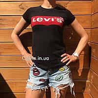 Женская футболка LEVIS черная