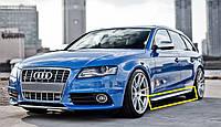 Листва молдинги накладки на пороги тюнинг Audi A4 b8 стиль S-line