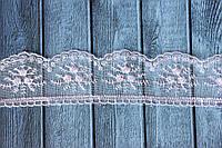 Кружево Розочки на фатине, около 10 ярд/уп, нежно-сиреневого цвета