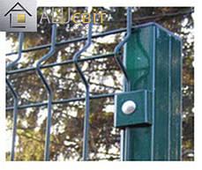 Столбик заборный для 3Д ограды с ППЛ покрытием, 2 метра