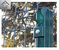 Столбик заборный для 3Д ограды с ПВХ, 2.5 метра