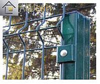 Столбик заборный для 3Д ограды с полимерным покрытием, 2.5 метра