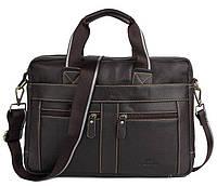 Мужская кожаная сумка Ox Bag Classic (коричневая, натуральная кожа)