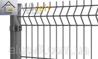 Секционная 3Д ограда 1,26 м х 2,5 м цинк, 3х4 мм забор эко стандарт, фото 2