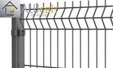 Секционная 3Д ограда 1,26 м х 2,5 м цинк, 3х4 мм забор эко стандарт