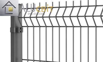 Секційна 3Д огорожа 1,26 м х 2,5 м цинк, 4х4 мм стандарт паркан