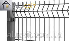 Секционная 3Д ограда 2м х 2,5м цинк, 4х4 мм стандарт забор
