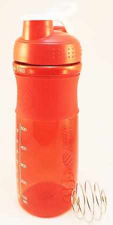 Спортивная бутылка для воды с шейкером 760мл., красная (203)