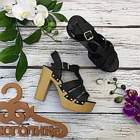 Трендовые босоножки в стиле gladiators на массивном каблуке  SH2401