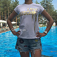 Женская футболка MOSCHINO белая
