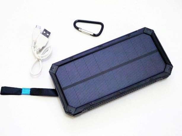 Солнечное зарядное Power Bank UKC Solar 32 800 mAh, Б329, фото 1