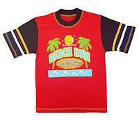 """Футболка для мальчика """"Пляж"""",размеры 110,116"""