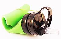 Бутылка для воды Силиконовая 600мл., зеленая (202)