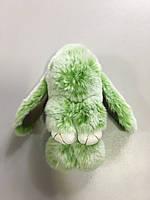 Меховой брелок-кролик меланж Rex Fendi нежно салатовый