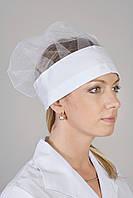 Женский медицинский колпак шапка белого цвета