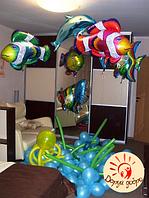 №33 Композиция из фольгированных шаров с гелием  Днепр