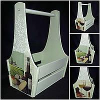 Декоративный ящик из фанеры, декупаж, ручная работа, 25х17х36 см., 300/270 (цена за 1 шт. + 30 гр.)