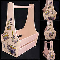 Ящик из фанеры в стиле Прованс, ручная работа,  25х17х36 см., 300/270 (цена за 1 шт. + 30 гр.)