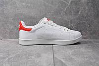 Кроссовки Adidas Stan Smith (Бело-красные) СУПЕР КАЧЕСТВО! СКИДКА -25%
