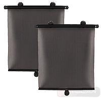 Ролетные шторки CarLife SS-045 на боковые окна, 45см * 55см , 2 шт - крепление: присоски