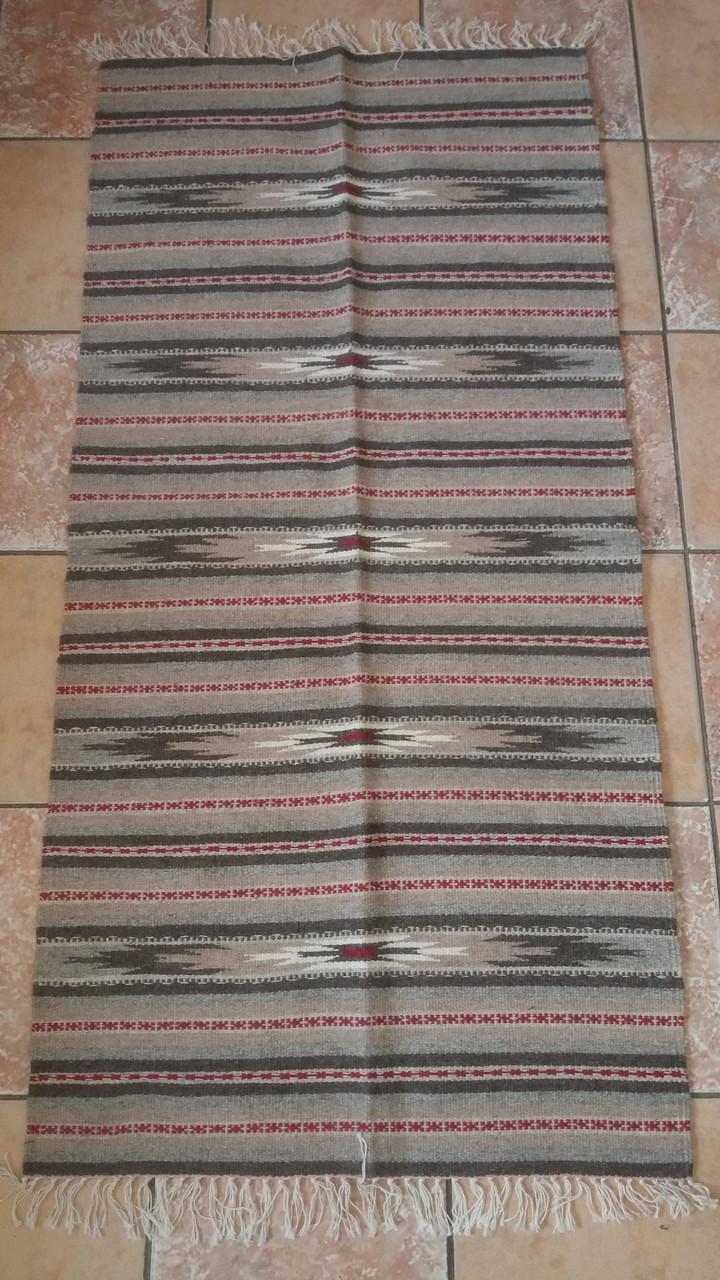 Чудова тепла доріжка-килимок на підлогу ручної роботи із шерсті!