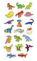 """Набор магнитных фигурок Viga Toys """"Динозавры"""" 20 шт., детские магнитные фигурки"""