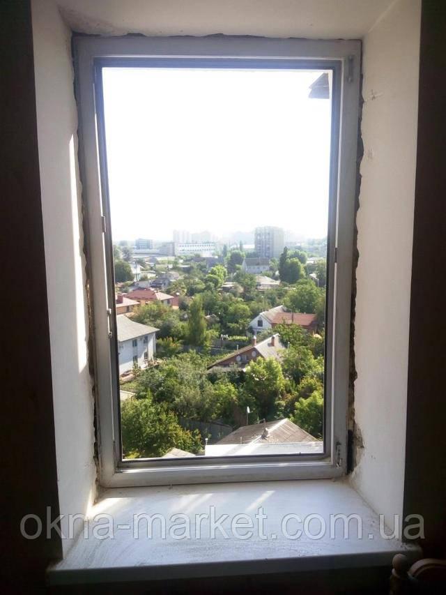 Монтаж одностворчатого окна ―