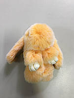 Меховой брелок-кролик меланж Rex Fendi нежно оранжевый