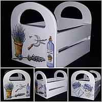 Декоративный ящик из фанеры, декупаж, ручная работа, 20х15х16 см., 260/230 (цена за 1 шт. + 30 гр.)