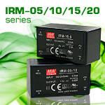 IRM-05/10/15/20 – компактные AC-DC преобразователи на плату от Mean Well