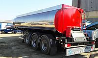 Напівпричіп цистерна 30 м3, 3 відсіки (з нержавіючої сталі)