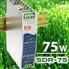 SDR-75 компактный источник питания на DIN-рейку от Mean Well