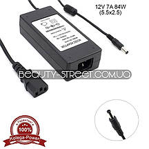 Блок питания для LCD монитора 12V 7А 84W 5.5x2.5 (B) оптом от 3шт
