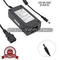 Блок питания для LCD монитора 12V 6А 72W 5.5x2.5 (B) оптом от 3шт