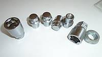Секретки на колеса (секретные гайки) М12х1,5 L=32 мм., под Прессшайбу - откр., 2 ключа